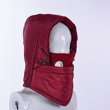 Outdoor Cycling Face Mask Windproof Cold Thickening Fleece Hat Anti-Fog Mask Multi-Function Headgear Cap For Unisex Winter