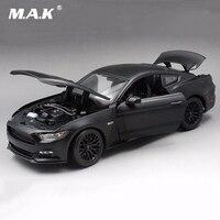 Nova chegada 1/18 preto Escala Mustang GT 2015 5.0 Alloy Diecast Car alloy diecast Modelo de Carro crianças brinquedo