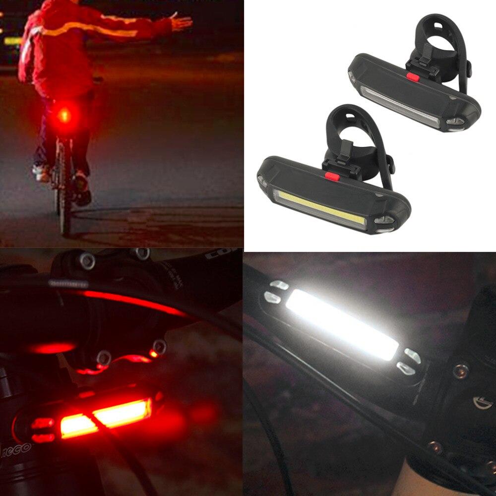 100 Lumens Rechargeable Cob Led Usb Mountain Bike Tail