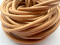 5mm Real Leather Cord Round Bracelet Necklace Beading Jewelry and Craft Cord Black Brown White Natural Color