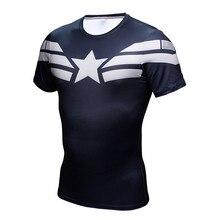 Captain American T font b shirts b font 3D Printed Compression Bodybuilding font b Fitness b