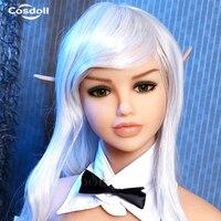 Cosdoll Новый Реалистичная Силиконовые Манекены эльф головы для Реалистичного секс кукла, настоящее Куклы голова с оральный секс, бесплатная п