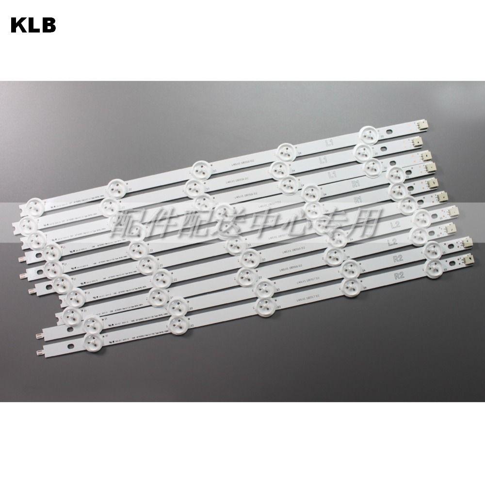 10pcs X Original Backlight LED Strips For 42'' LG 42LP360C-CA E74739 TV LED42E350PDE 6916L-1214A/1215A/1216A/1217A Set W/tape