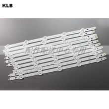 10pcs x Original Backlight LED Strips for 42 LG 42LP360C CA E74739 TV LED42E350PDE 6916L 1214A/1215A/1216A/1217A Set w/tape
