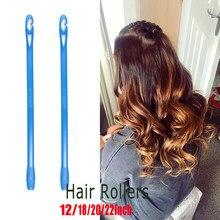 Rolos modeladores de cabelo macio, 20 peças/40 peças de rolos de cachos e de cabelo macio, ferramenta para estilizar o cabelo, plástico ondulação de cabelo
