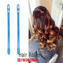 Rodillos rizadores de pelo suave para cabello, accesorios de plástico para rizar el cabello, bricolaje, 20 piezas, 40 Uds.