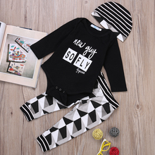 baby boy clothing sets cotton long sleeve infant 3pcs suit baby boys clothes newborn toddler outfits