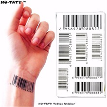 Nu-TATY Nu Era Matrix Barcode Temporary Tattoo Body Art Flash Tattoo Sticker 17x10cm Waterproof Henna Tatoo Selfie Wall Sticker
