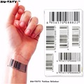Nu-TATY Nu Era Matrix Barcode Temporary Tattoo Body Art Flash Tattoo Sticker 17*10cm Waterproof Henna Tatoo Selfie Wall Sticker