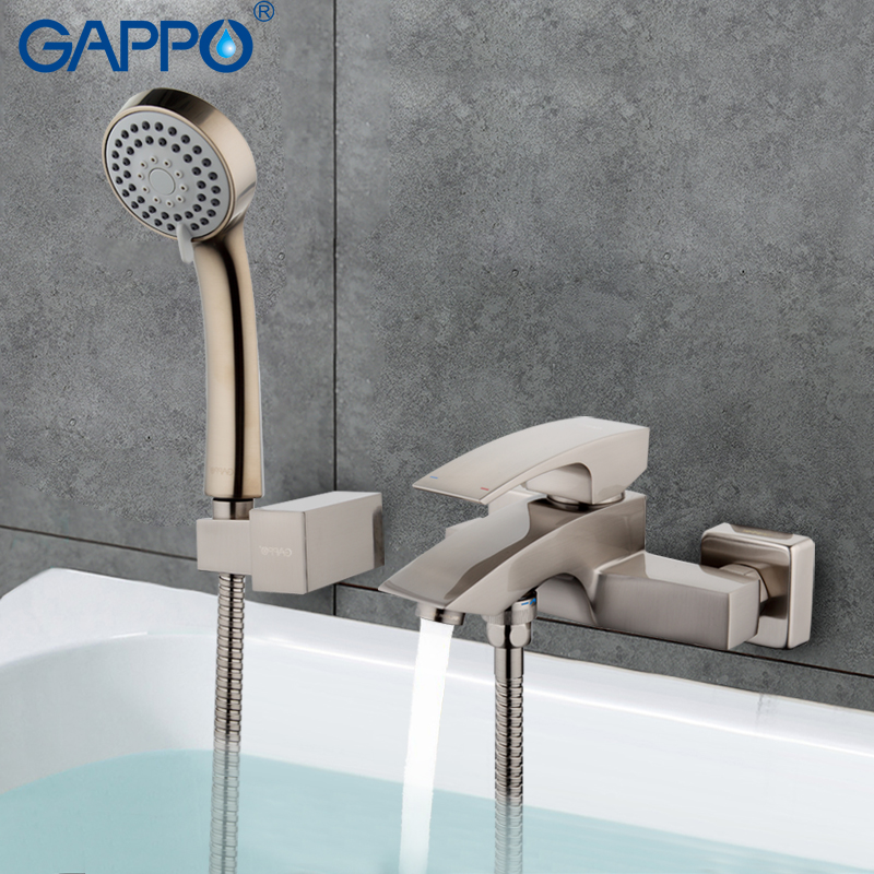 GAPPO Bathroom Faucet Accessories faucet Brass body bathtub sink mixer Cold Hot water restroom faucet in hand shower G3007-5  смеситель gappo g3007 5