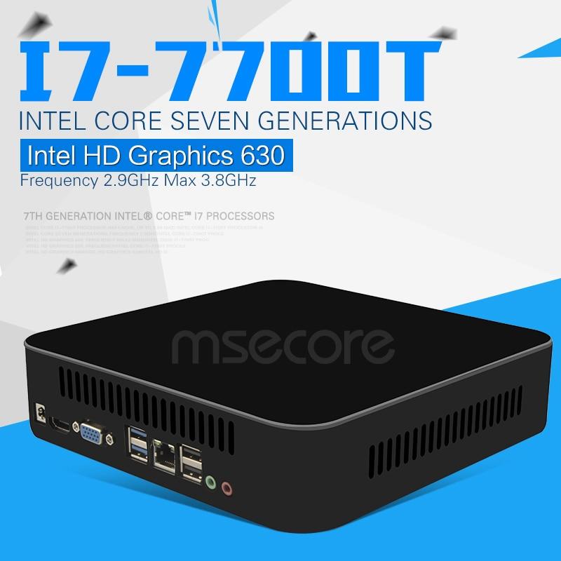 Intel Quad-Core i7 7700 T Mini Computadora de Escritorio PC Windows 10 sistema K
