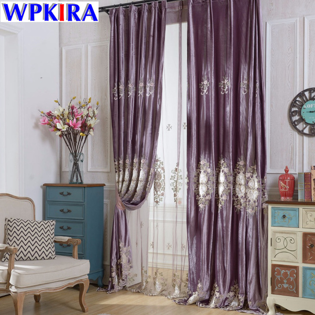 Europe Embroidered Window Curtains for the Bedroom Fancy Modern ...