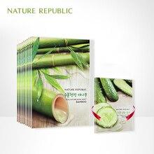 hot deal buy 20pcs/lot nature republic skin care bamboo plant facial mask moisturizing oil control skin elastic mask face mask face care