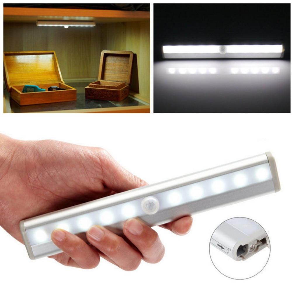 ICOCO Nowy TDL-7120 10 LED PIR Czujnik ruchu Bezprzewodowy czujnik Oświetlenie Szafa Nocna lampa akumulatorowa Szafa Szafa Szuflada Światło