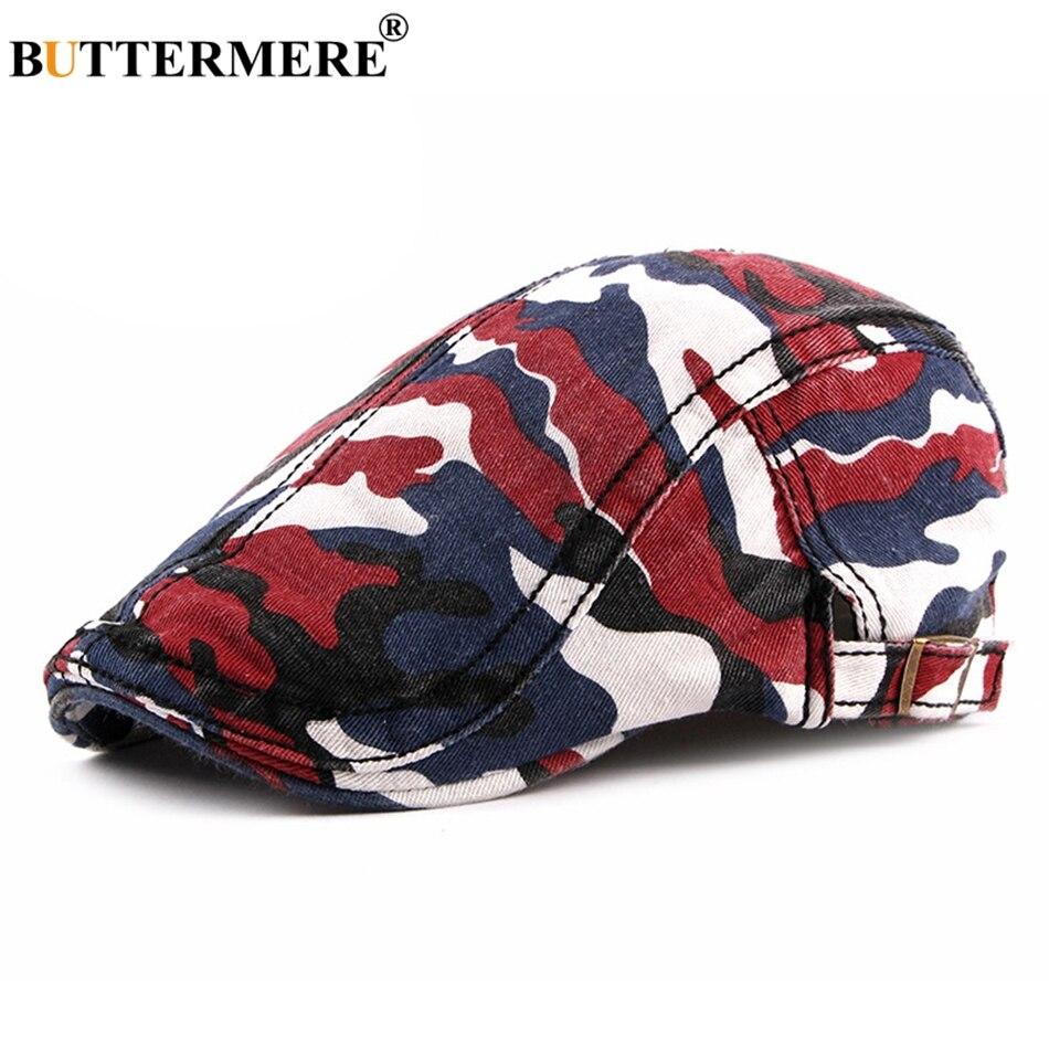 BUTTERMERE Hat Cabbie-Cap Spring Berets-Wash Duckbill Adjustable Male Cotton Fashion