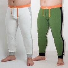 2014 Spring Autumn Men's New Warm Bear Underwear Pants Plus Size Long Johns Gay Thermal U bag Pants Designed for Bear M L XL XXL