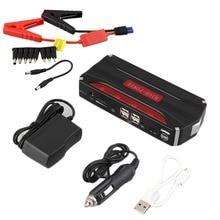 Многофункциональный 68800 мАч 12 В 4 USB Портативный мини-автомобиль скачок стартер Мощность банка для аварийного пуска платные Батарея J25C27