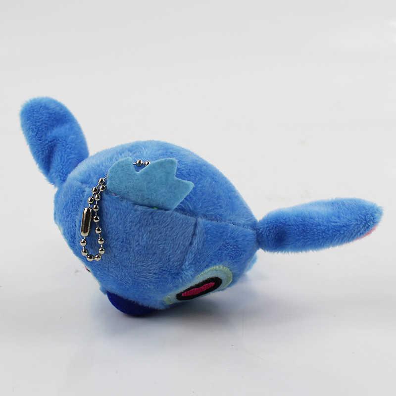 2 pçs/lote 10 centímetros Lilo e Stitch Brinquedo de Pelúcia Ponto Stuffed Dolls Pingentes Chaveiro Decoração Do Carro