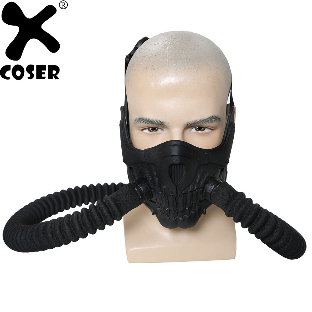 XCOSER Australia Classic Movie Mad Max Immortal old Joe Mask Black Tube Cosplay Props Party Costumes Accessories Cheap Promotion