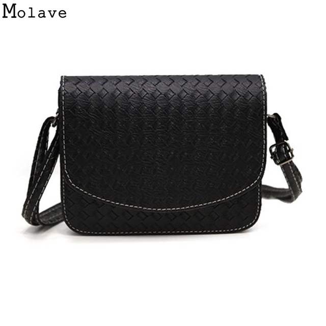 2017 Small Knitting Flat Handbags Women Evening Clutch Pu Leather Crossbody Bag Feminina S Shoulder Bags