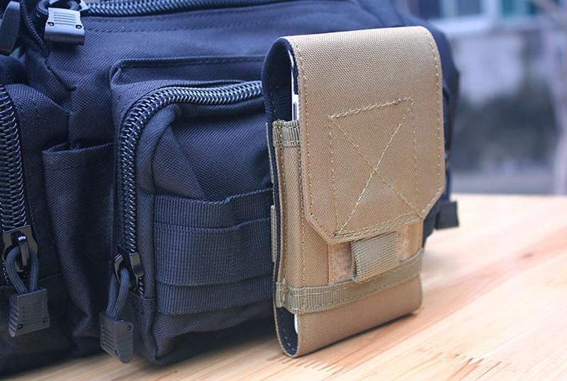 Olahraga Holster Kait Loop Sabuk Telepon Kasus Cover Bag Pouch Untuk - Aksesori dan suku cadang ponsel - Foto 3