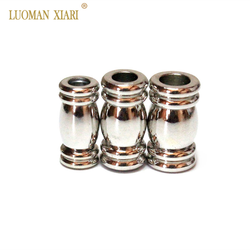 50 Magnetic Clasp Converters Shiny Silver Color Shiny Drum Style Jewelry
