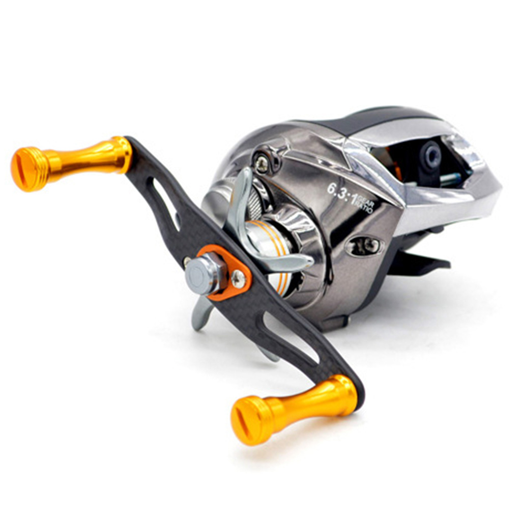 19BB Baitcasting Fishing Reel 6.3:1 Bait Casting Reel Fishing Wheel Carbon Fiber Drag 8kg Fishing Tackle Magnetic Brake System