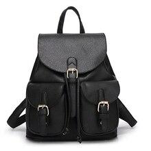 Для женщин кожаный рюкзак модные черные Школьный для подростков Обувь для девочек милые Карамельный Цвет Розовый Бежевый женские дорожная сумка; Bolsas Mochila