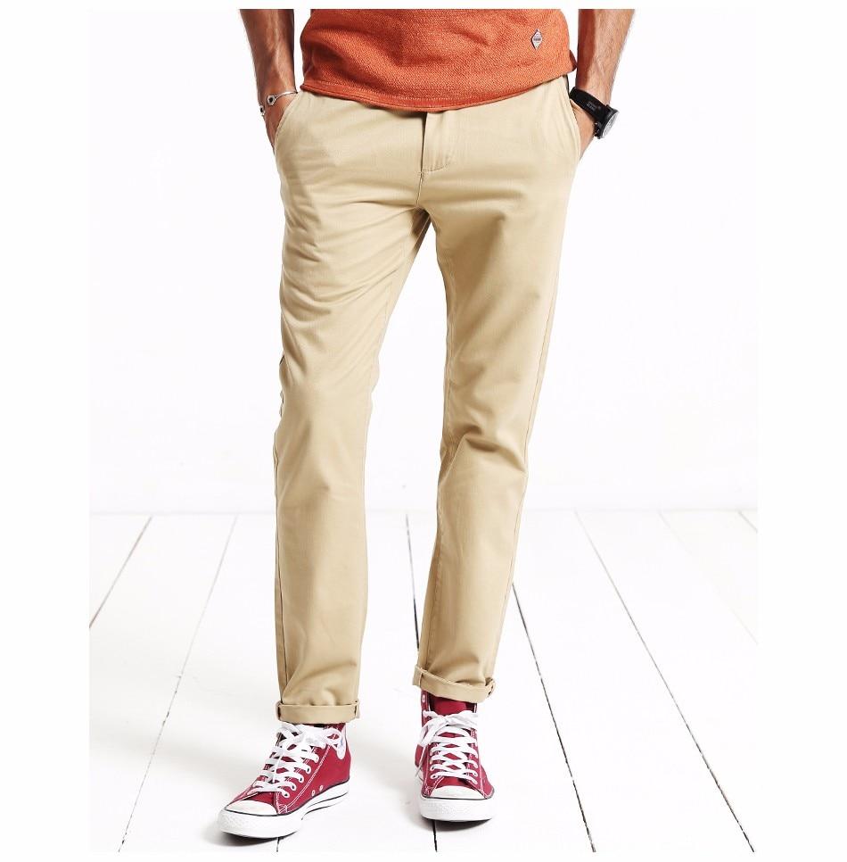 HTB1TnQWXfvsK1RjSspdq6AZepXaf Simwood Brand Autumn Winter New Fashion 2019 Slim Straight Men Casual Pants 100% Pure Cotton Man Trousers Plus Size KX6033