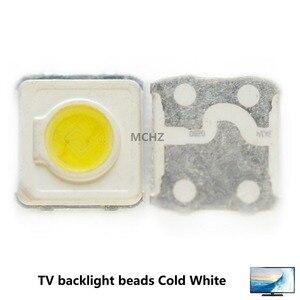 Atacado 500 pces samsung led tv retroiluminação smd 1 w 3535 3537 branco fresco 3 v 300ma para samsung reparação de tv