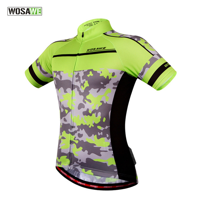 WOSAWE New Cycling Clothing Camouflage Clothes Women Men Cycling Jersey  Short Sleeve Sport Jacket Top Bicycle Bike Cycling Shirt 1486d51b1