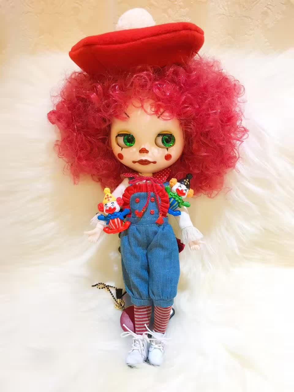 Blyth doll Clown doll doll appreciate tetiana tikhovska paper doll