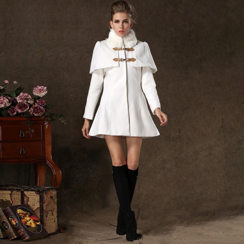 2015 Winter Women's New Fur Collar Cape Slim Korean Wool Jacket ...