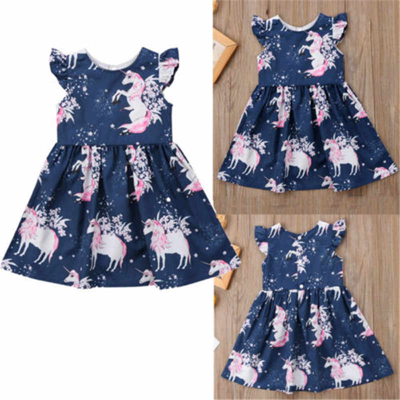 PUDCOCO Newest 1-6 Years Toddler Baby Girls Floral Outfits Set kids Girl Clothes Sleeveless Dress Cute Costume 1-6T