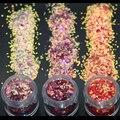 3 Colores 2mm Diamante Del Arte Del Clavo de Acrílico Del Clavo Del Brillo 3D Rhombus Forma Del Brillo de Las Lentejuelas Del Polvo para la Decoración de Uñas