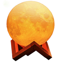 цена на New scenery 3d moon lamp motion sensor lights with usb night light with motion sensor