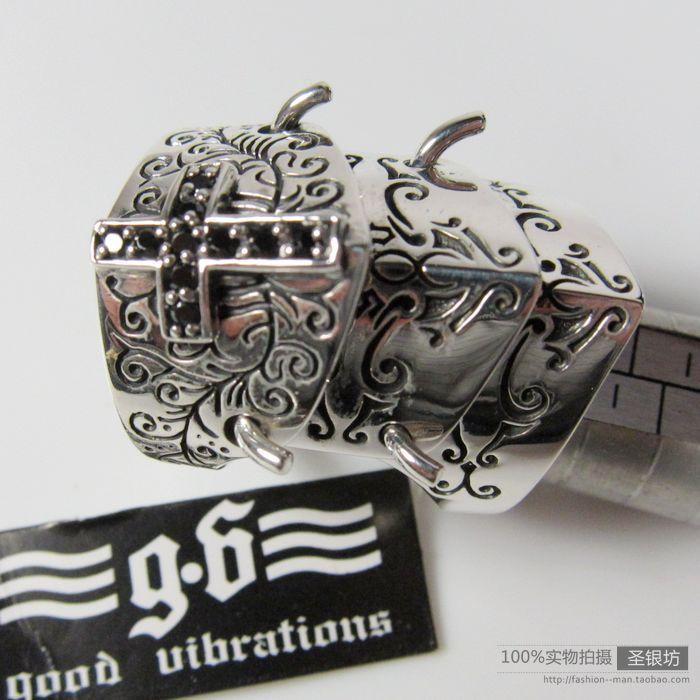 Magazine <font><b>classic</b></font> 925 pure silver <font><b>good</b></font> <font><b>vibrations</b></font> armor ring thai silver