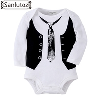 Sanlutoz Baby Rompers Winter Newborn Baby Boy Clothing Gentleman Jumpsuits Cute Baby Clothes For Birthday Wedding