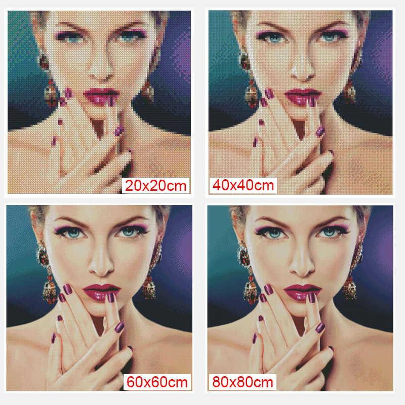 5D DIY Diamond Lukisan Bordir Swan Crystal Gambar Menjahit Hadiah Penuh Mosaik Diamond Cross Stitch Dekorasi Rumah Xu
