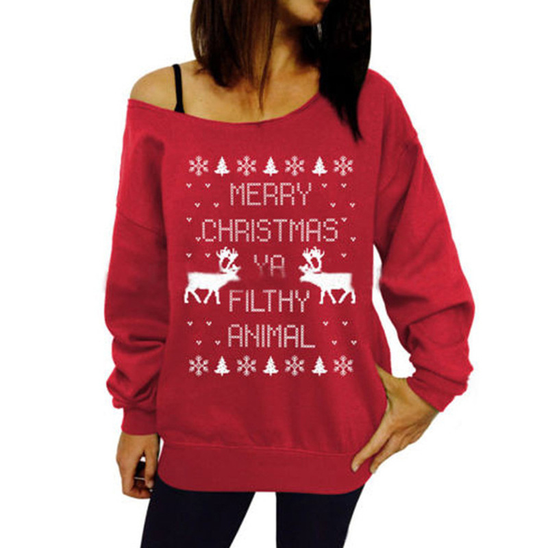 Sudadera Mujer 2019 Spring Autumn New Christmas Tree Theme Pattern Print Pullovers Sweatshirt Hoodies Women Casual Clothes
