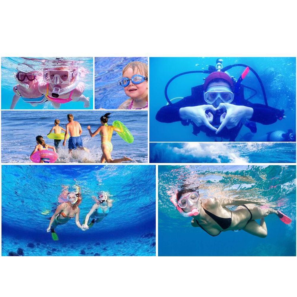 YFXcreate Professional Scuba Diving Mask and Snorkels Anti-Fog Goggles Glasses Diving Swimming Easy Breath Tube Set 5