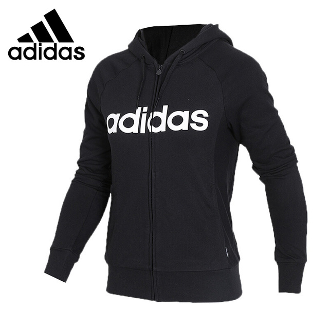 Original New Arrival 2018 Adidas NEO Label W CE ZIP HOODIE Women's jacket Hooded Sportswear in Running Jackets from Sports & Entertainment on