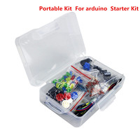 Smart Electronics Portable Kit Resistor LED Capacitor Jumper Wires Breadboard for arduino Diy Starter Kit with Plastic Box