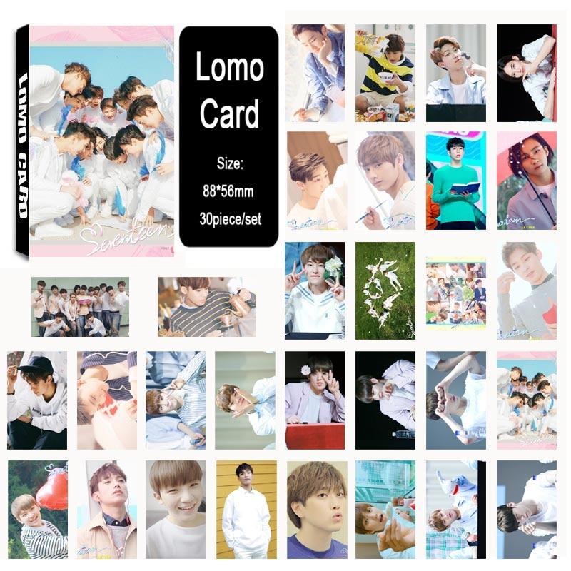 Professional Sale Kpop Seventeen Members Polaroid Lomo Photo Card Dk Woozi Happ Birthday Hd Photocard Collective Cards 30pcs Jewelry & Accessories