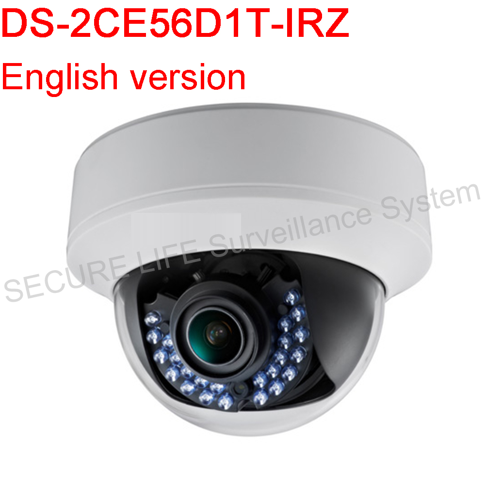 English version DS-2CE56D1T-IRZ HD1080P Indoor Motorized Vari-focal IR Dome Camera Support 30m IR,True Day/Night комплекты акустики focal pack dome 5 1 black