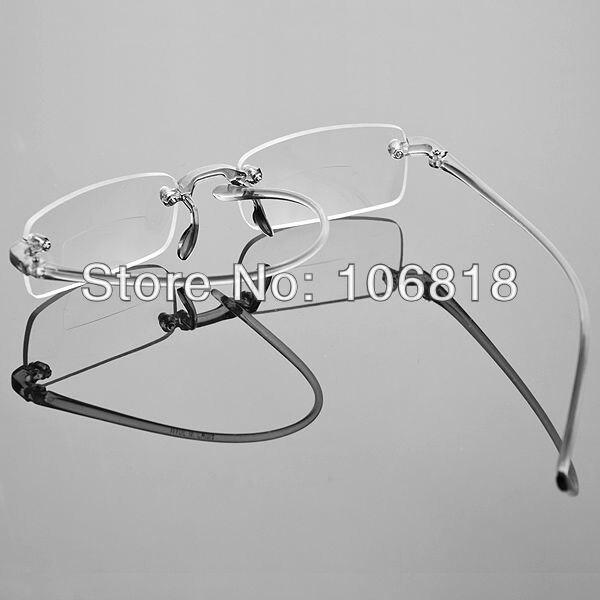 Unique gafas sin montura sin marco Bifocal humo caucho gafas de ...