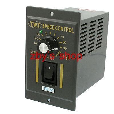 Input AC 220V Output DC 24V Low High Adjustable Motor Speed Controller ac 220v input dc 180v output green i o 2 position switch motor speed controller