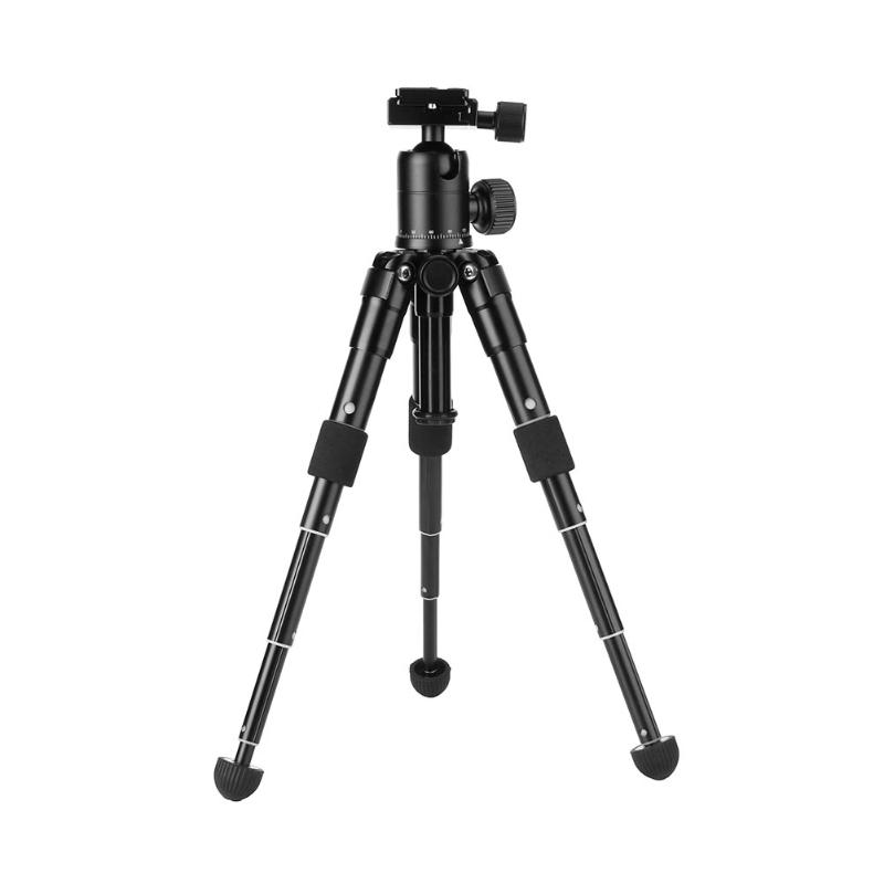 Trépied d'appareil photo Portable trépied Compact en alliage d'aluminium Mini trépied de bureau pour appareils photo reflex numériques Canon Nikon