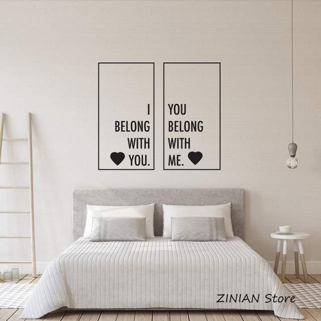 Placeholder Wedding Room Decoration Stickers We Belong Together Wall  Sticker Quote Romantic Words Wall Decals Bedroom Couple