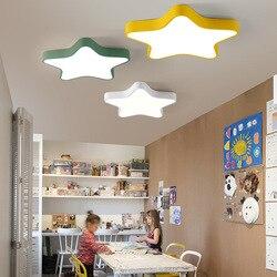 Kreatywny ciepłe gwiazdy sypialnia lampa sufitowa LED romantyczny prosty chłopców i dziewcząt dzieci pokój lampa WF6121116